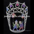 Big Beauty Pageants Rhinestone Tiaras Grande Tall Coronas AB de cristal