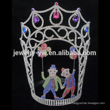 Big Beauty Pageants Rhinestone Tiaras Grande Tall Coronas AB de cristal