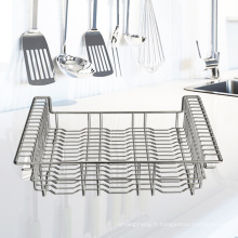 Dish Drying Rack Stainless Steel Dish Rack And Drain Board Set Space-Saving Dish Drying Rack Over Sink