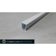 Manual operado cortina de alumínio cortina pista com revestimento em pó branco