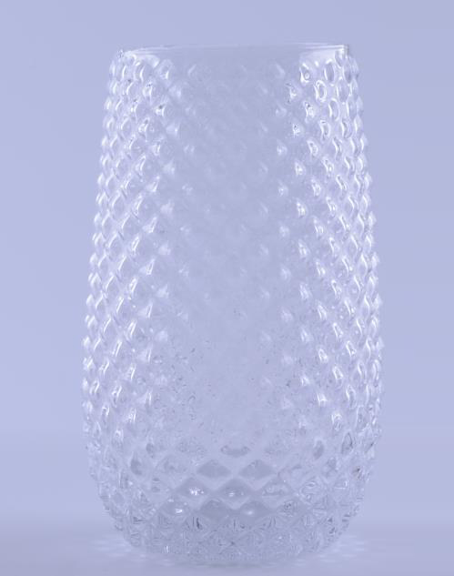 clear Hobnail Highball Glass