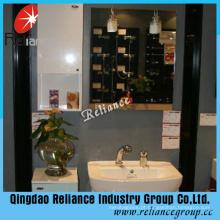Espelho de prata de 3.7 mm / Espelho de casa de banho / Espelho de revestimento duplo / Espelho de pintura verde