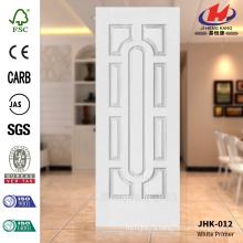 JHK-012 Редкий дизайн Гладкая поверхность Кухня Белый грунтовка Турция HDF Плесень двери для кожи, популярная в Швейцарии