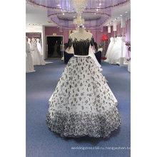 Черный Органза Бальное Вечер Выпускного Вечера Вечернее Платье