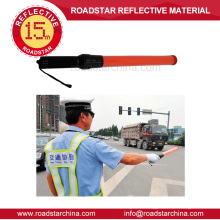 Security police led traffic control baton