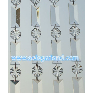 Acrylic Crystal Clear Rectangle And Flower Bead Garland Chandelier