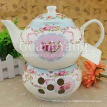 Precioso juego de té de porcelana Vintage Fachada