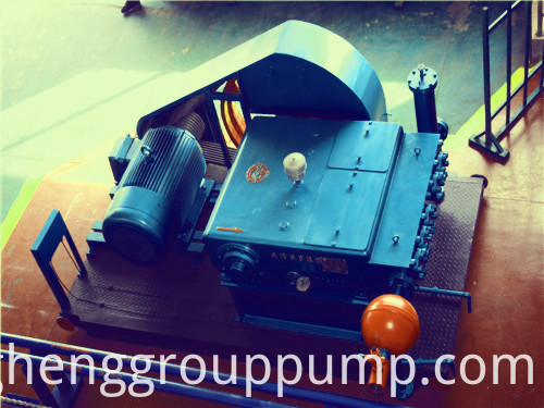 Hydraulic high pressure plunger pump