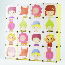 Armarios plásticos del guardarropa del almacenaje de la historieta de DIY para los niños (ZH0010-2)