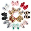 12 Farbe Baby Kleinkind Mode Loafer Schuhe weiche Sohle Anti-Rutsch-Mokassins