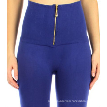 Ladies Seamless High Waist Zipper Fleece Leggings