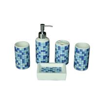 hotsale cheap new design luxury bathroom soap dispenser set