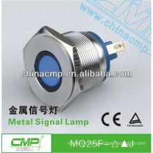 Installation diameter 25mm stainless steel led signal light