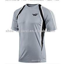 camiseta bordada al por mayor del logotipo del verano en blanco