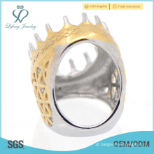 Índicsia garra projeção desenhos ouro dedo anéis desconto
