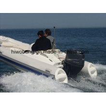 Auffälliges Design Meistverkauftes Motor Fiberglas Rib Boat