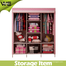 DIY Folding Fabric Dustproof Closet Storage Bedroom Wardrobe
