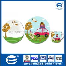 3pcs adorável pequeno-almoço de porcelana para crianças BC8121