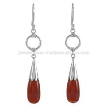 Lovely Red Onyx Edelstein 925 Sterling Silber Ohrring Schmuck