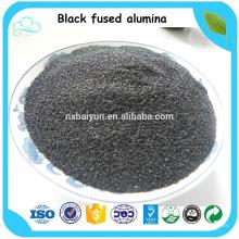 Черный Корунд / черный Сплавленный глинозем / черный оксид алюминия для продажи