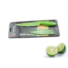 Cuchillo de cocina de plástico colorido mango conjunto (se-3543)