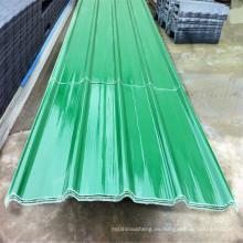 Materiales de construcción al por mayor China Hoja de espesor de FRP Acabado de hoja de techo corrugado