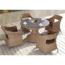 Restaurant extérieur Meuble en osier de jardin Chaise de table en rotin en bonnet (D527; S227)