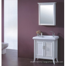 White Wooden Bathroom Vanity (B-329)
