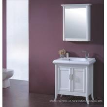 Vaidade de madeira branca do banheiro (B-329)
