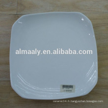 Hot selling hotel dinner plate forme carré super blanc