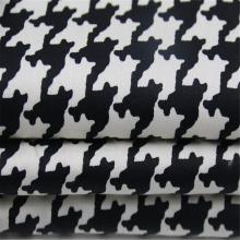 Printed cotton satin with thousand bird pattern