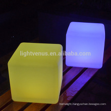 ce furniture waterproof led cube lighting decoration garden wireless color changing square led cube chair light for party