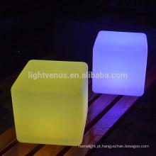 móveis CE impermeável cubo led iluminação decoração jardim sem fio cor mudando Praça conduziu cadeira cubo luz para festa