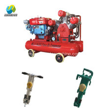 Diesel Engine Compressor Air 7bar Jack Hammer