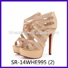 Goldene Damen High Heel Schuhe sexy modernen High Heel Schuhe China Großhandel High Heel Schuhe