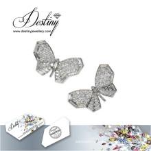 Destino joias cristais de Swarovski brincos brincos de borboleta