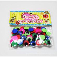 ojos de plástico de juguetes de peluche con pestañas, moviendo ojos saltones de juguete