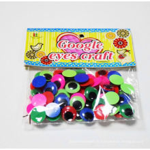yeux en plastique de jouets en peluche avec des cils, des yeux mobiles de jouets en mouvement