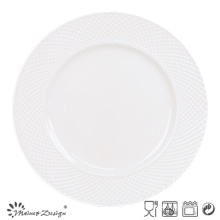 27cm Porcelain Dinner Set Embossed Design