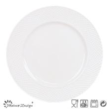 Set de cena de porcelana de 27cm con diseño en relieve
