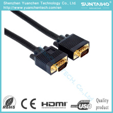 Gold Plated Plug HD 15pins Male to Male VGA Cable