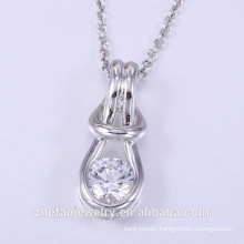 Popular fashion pendant necklace professional design 925 sterling silver pearl cage pendant jewelry modern pendant