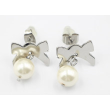Fashion Jewelry 316L Stainless Steel & Pearl Earrings