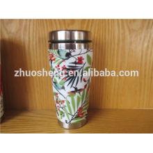 novo projeto personalizado em massa compro de cerâmica de aço inoxidável de china viajar caneca de café