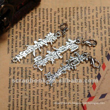Letra de chino de Metal Retro scrapbook adornos venta caliente