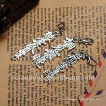 Retro Metal Chinese letter scrapbook embellishments hot selling