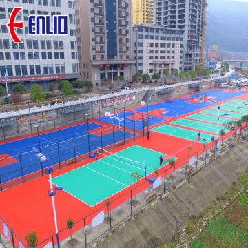 Enlio Basketball Multi Purpose Outdoor Court Modular Tiles