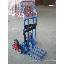 Trole resistente, trole da mão de 3 rodas para escadas telescópicas de escalada convertíveis