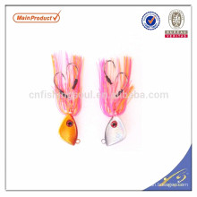 RJL002 china alibaba al por mayor de agua salada vertical jigging señuelo con falda de goma