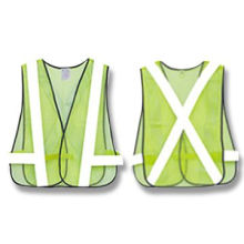 Traffic Safety Vest, Made of 100% Polyester Mesh Cloth, High Visibility, Available in Yellow